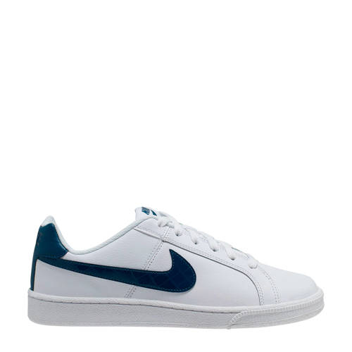 Nike Court Royale leren sneakers wit/donkerblauw