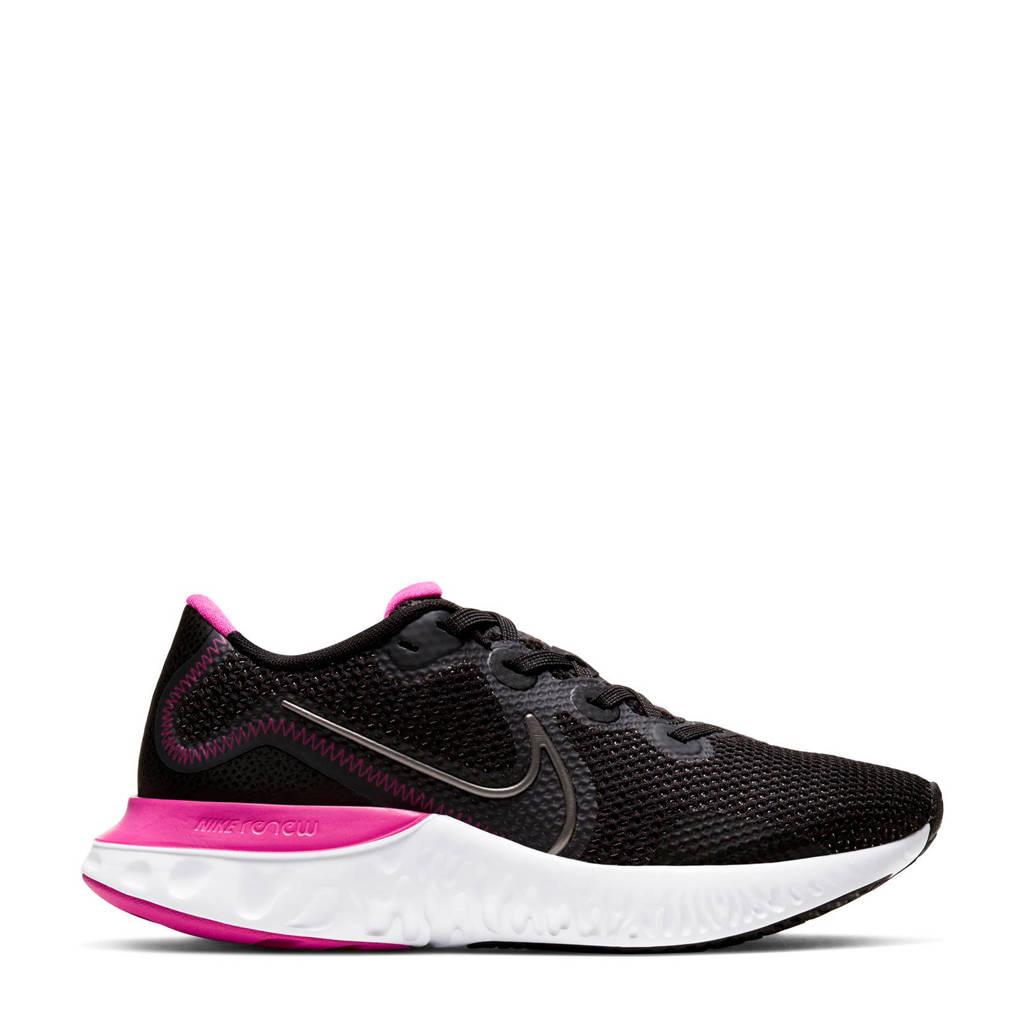 Nike Renew Run  hardloopschoenen zwart/grijs/fuchsia, Zwart/grijs/fuchsia