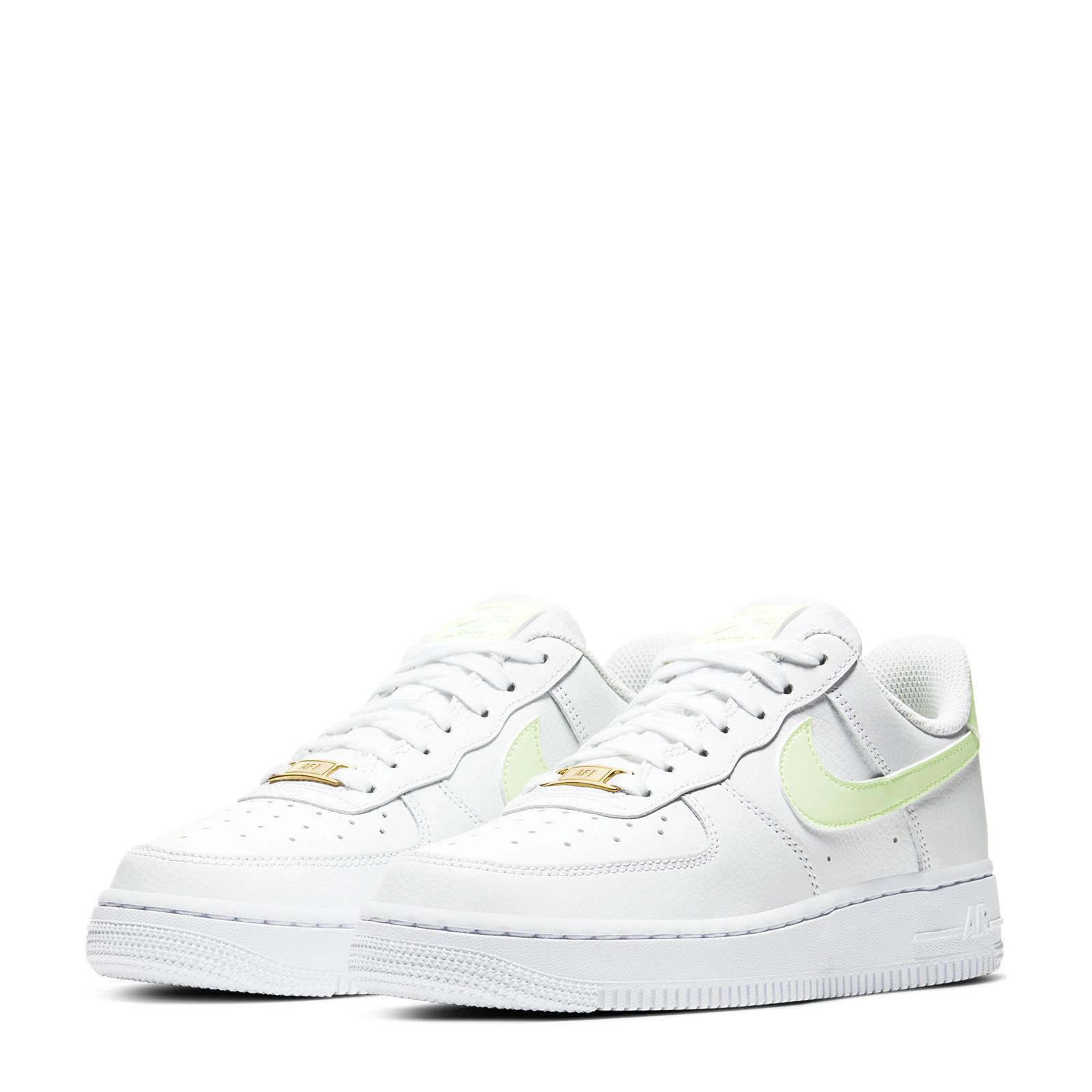 Nike Air Force 1 '07 sneakers wit/geel | wehkamp
