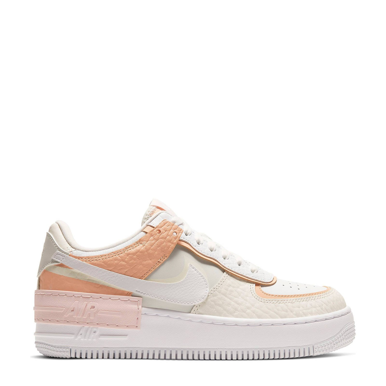 Nike Air Force 1 Shadow sneakers ecru/beige/lichtroze | wehkamp