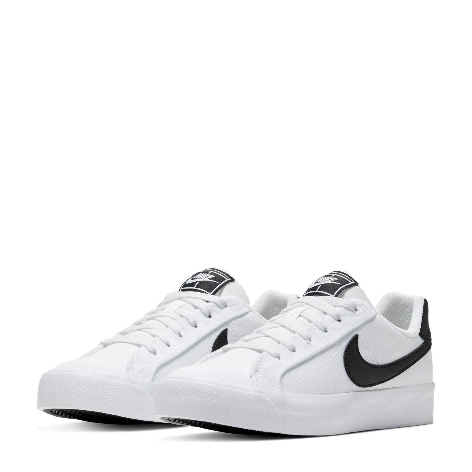 Nike Court Royale AC canvas sneakers witzwart | wehkamp