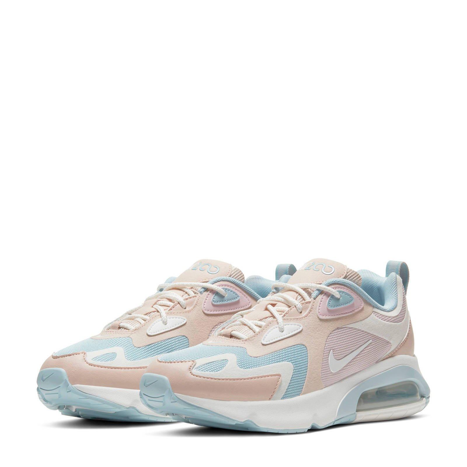 Nike Air Max 200 sneakers wit/pastelroze | wehkamp