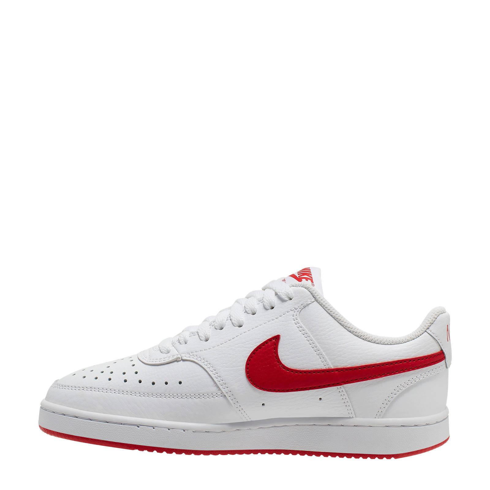 Nike Court Vision Low leren sneakers witrood | wehkamp
