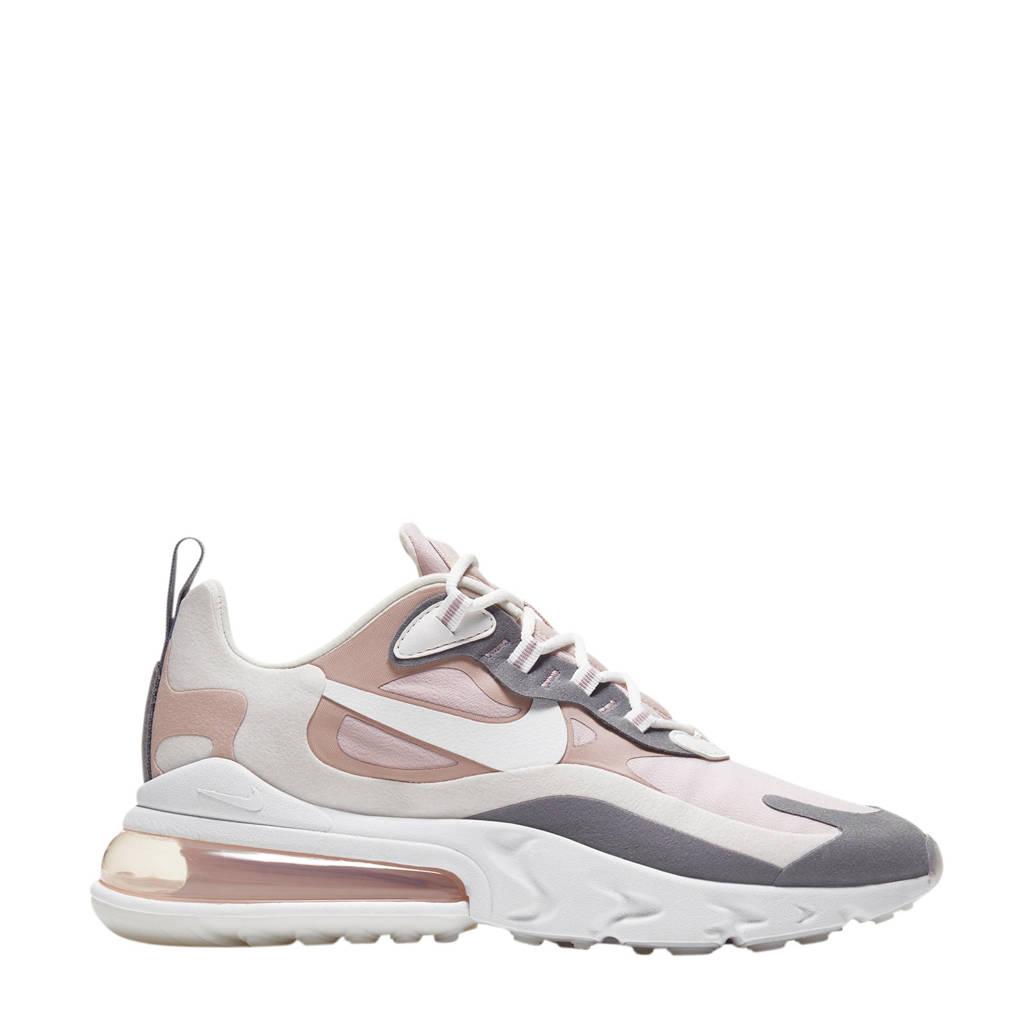 Nike Air Max 270 React sneakers ecru/wit/zwart, Ecru/wit/zand