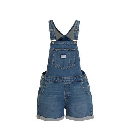 Levi's Plus regular fit tuinbroek blauw