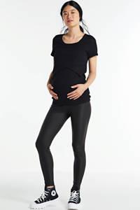 LOVE2WAIT coated zwangerschapslegging zwart, Zwart