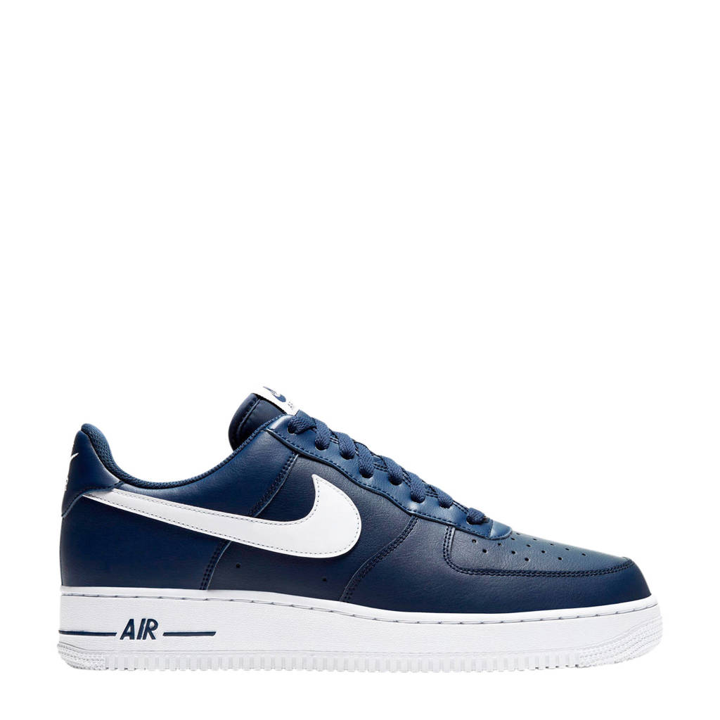 Nike Air Force 1 '07 leren sneakers blauw/wit, Blauw/wit
