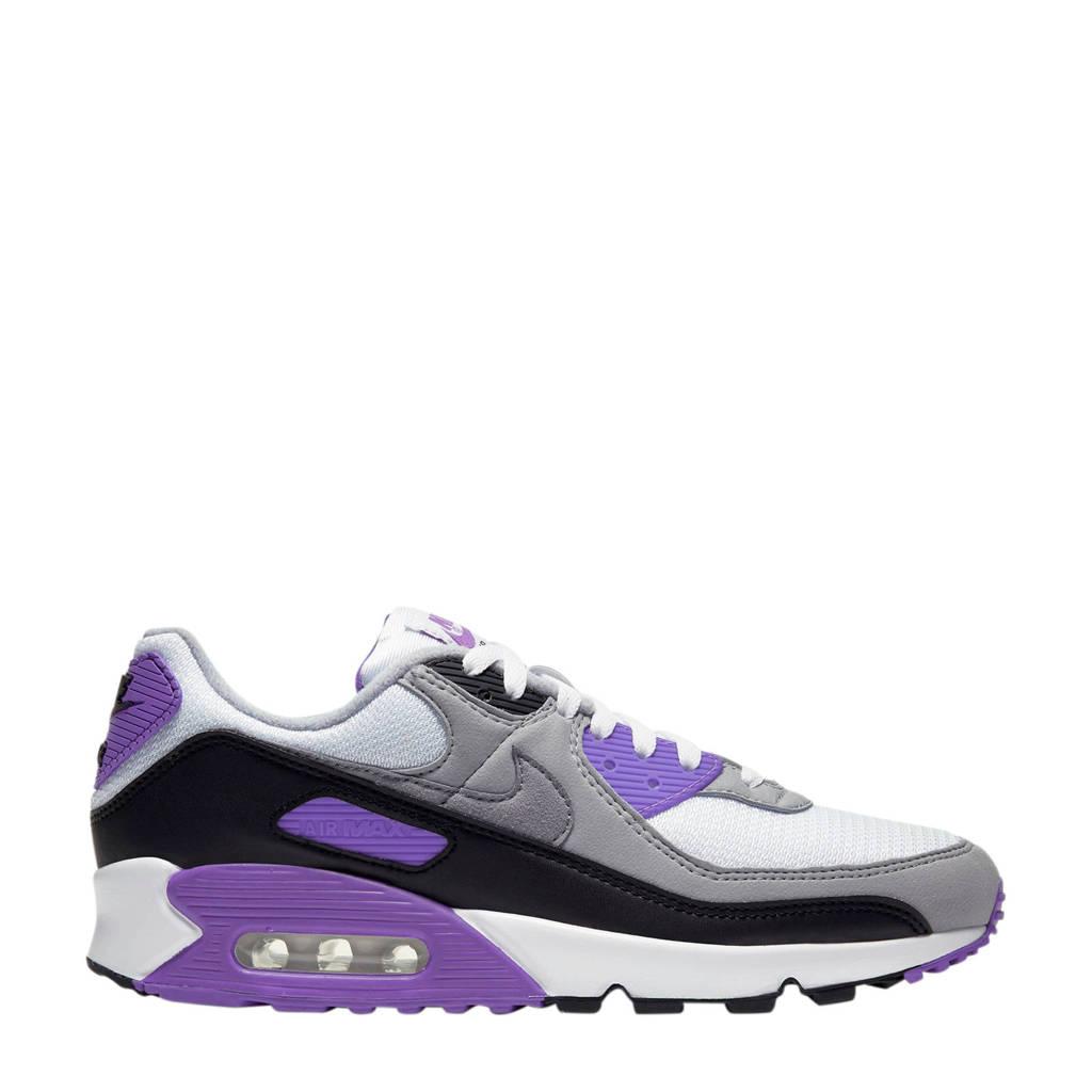 Nike Air Max 90 sneakers wit/grijs/paars, Wit/Grijs/Paars