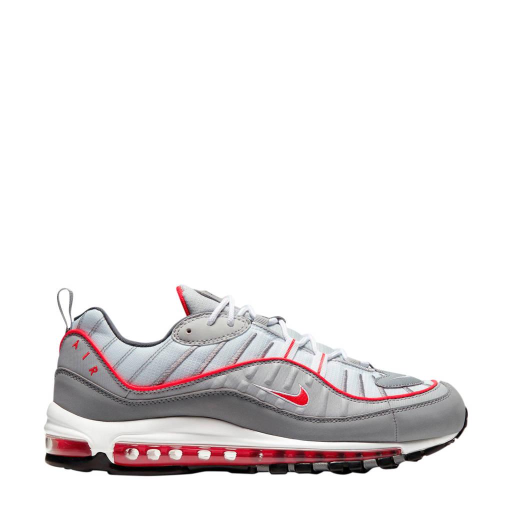 Nike Air Max 98 Premium sneakers lichtgrijs/rood/grijs, Lichtgrijs/rood/grijs