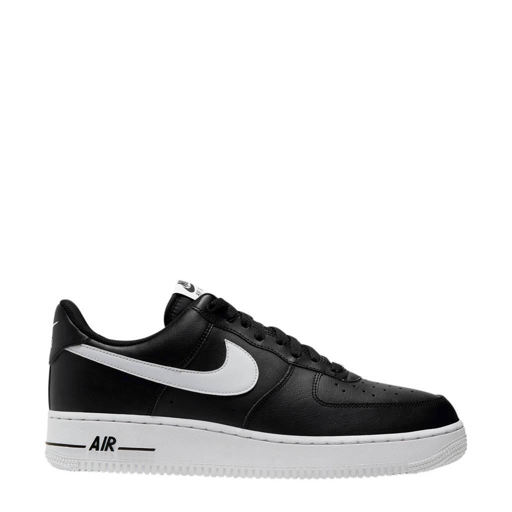 Nike Air Force 1 '07 leren sneakers zwart/wit, Zwart/wit