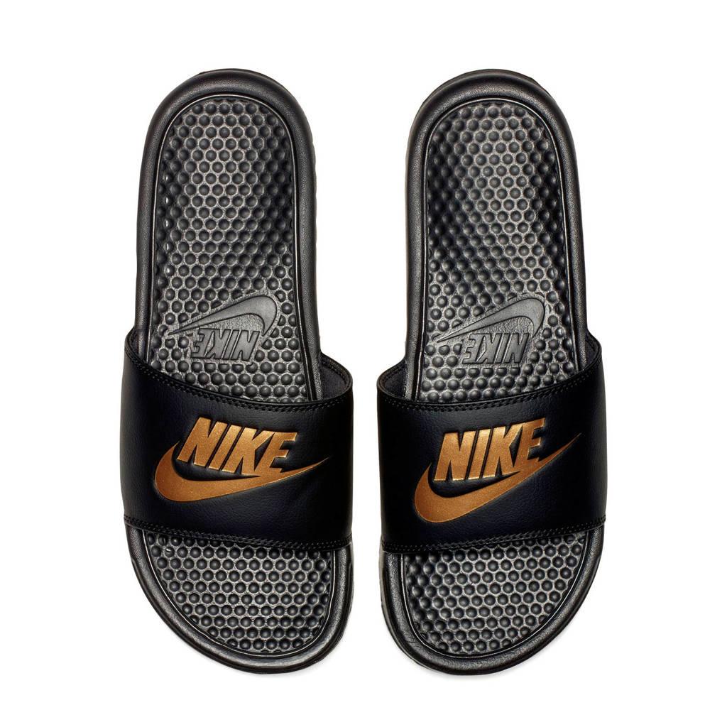 Nike Benassi JDI  slippers zwart/goud, Zwart/goud