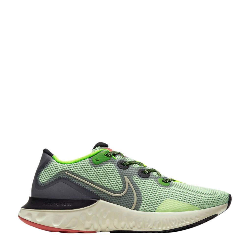 Nike Renew Run  hardloopschoenen geel/kaki/grijs, Geel/kaki/grijs