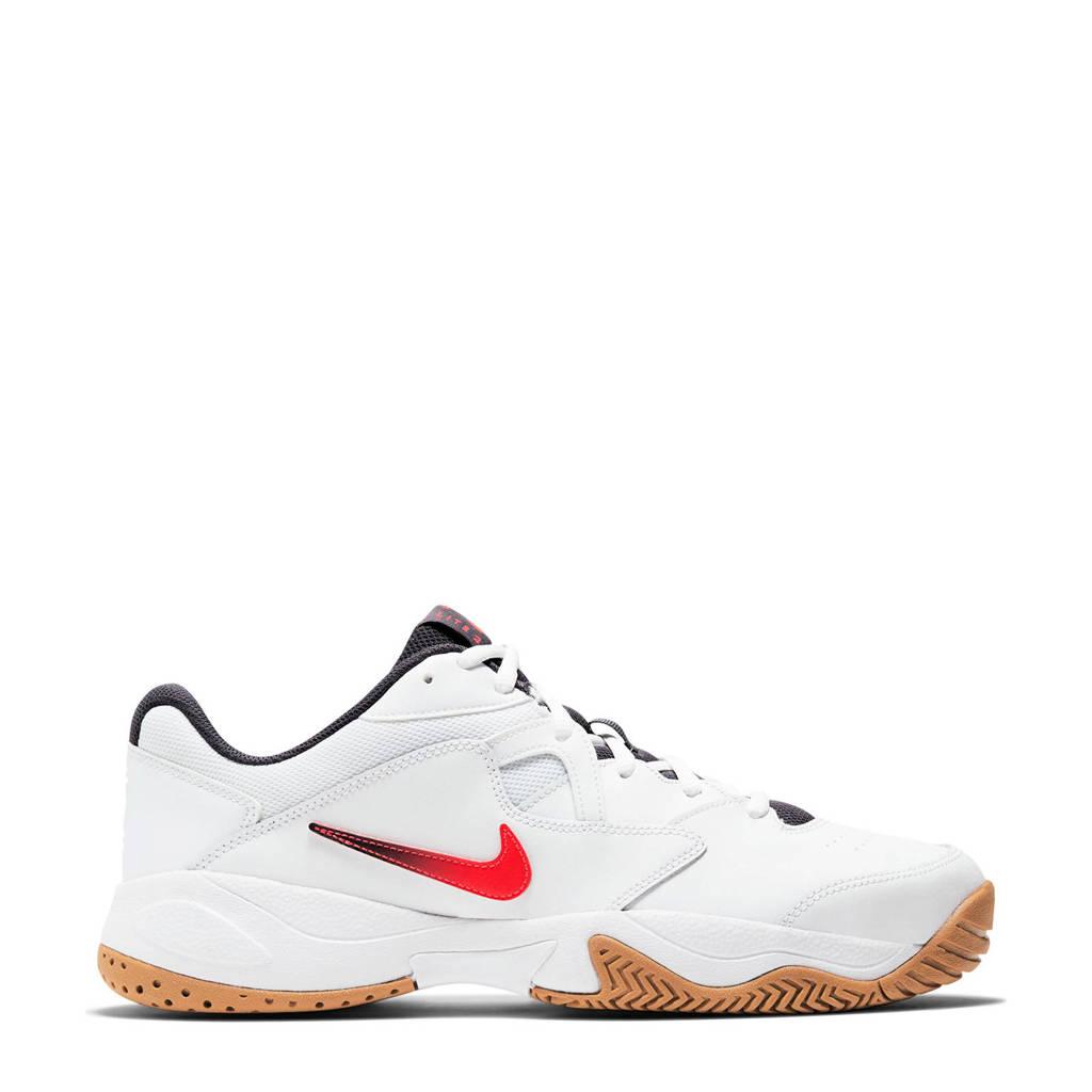 Nike Court Lite 2 tennisschoenen wit/rood, Wit/rood