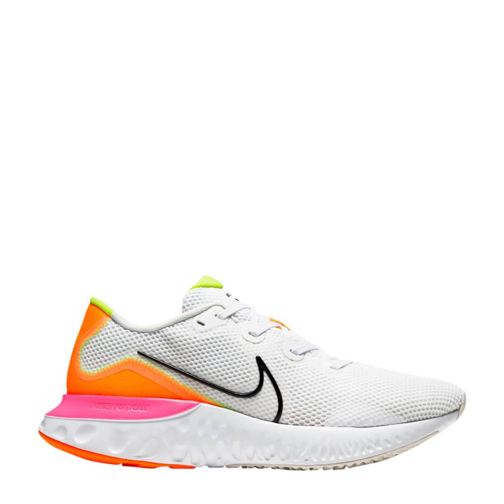 Nike Renew Run  hardloopschoenen wit/geel/oranje/roze, Wit/geel/roze/oranje