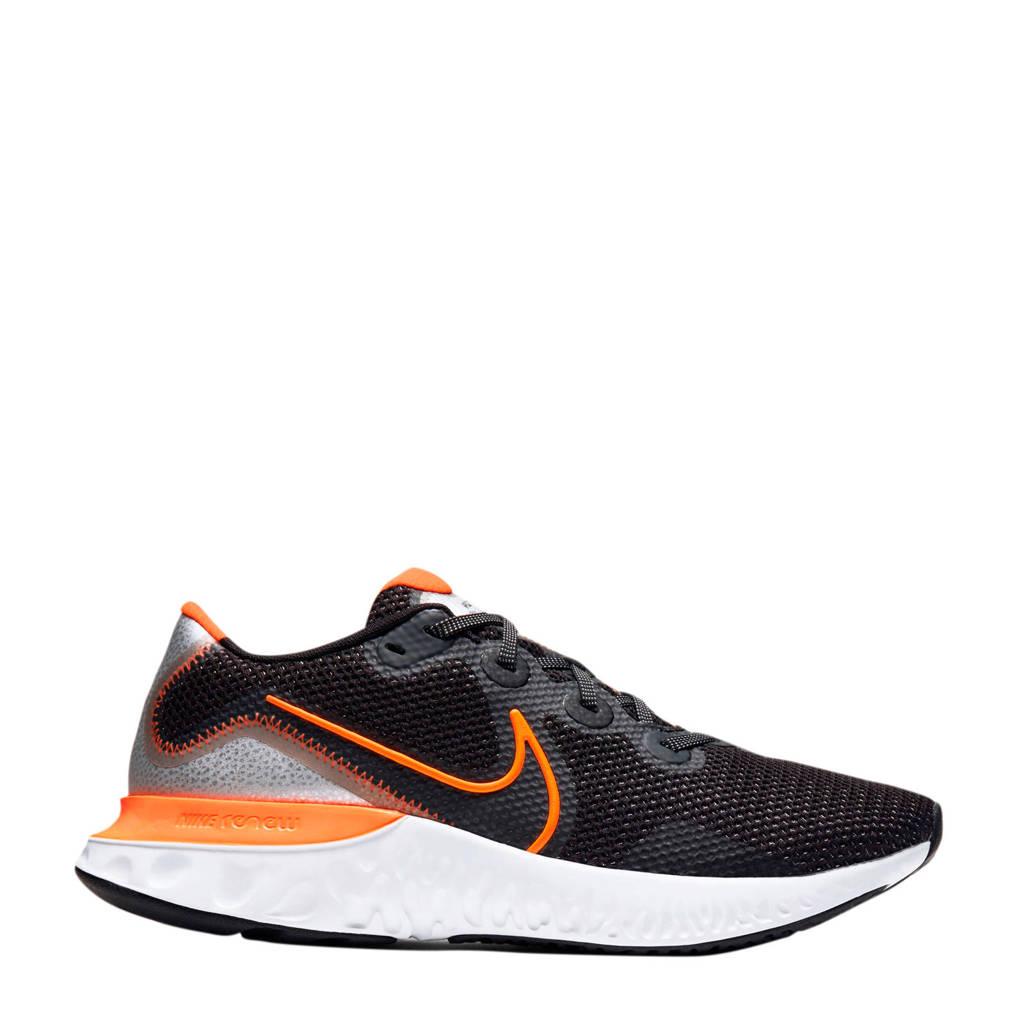 Nike Renew Run  hardloopschoenen zwart/oranje/grijs, Zwart/oranje/grijs