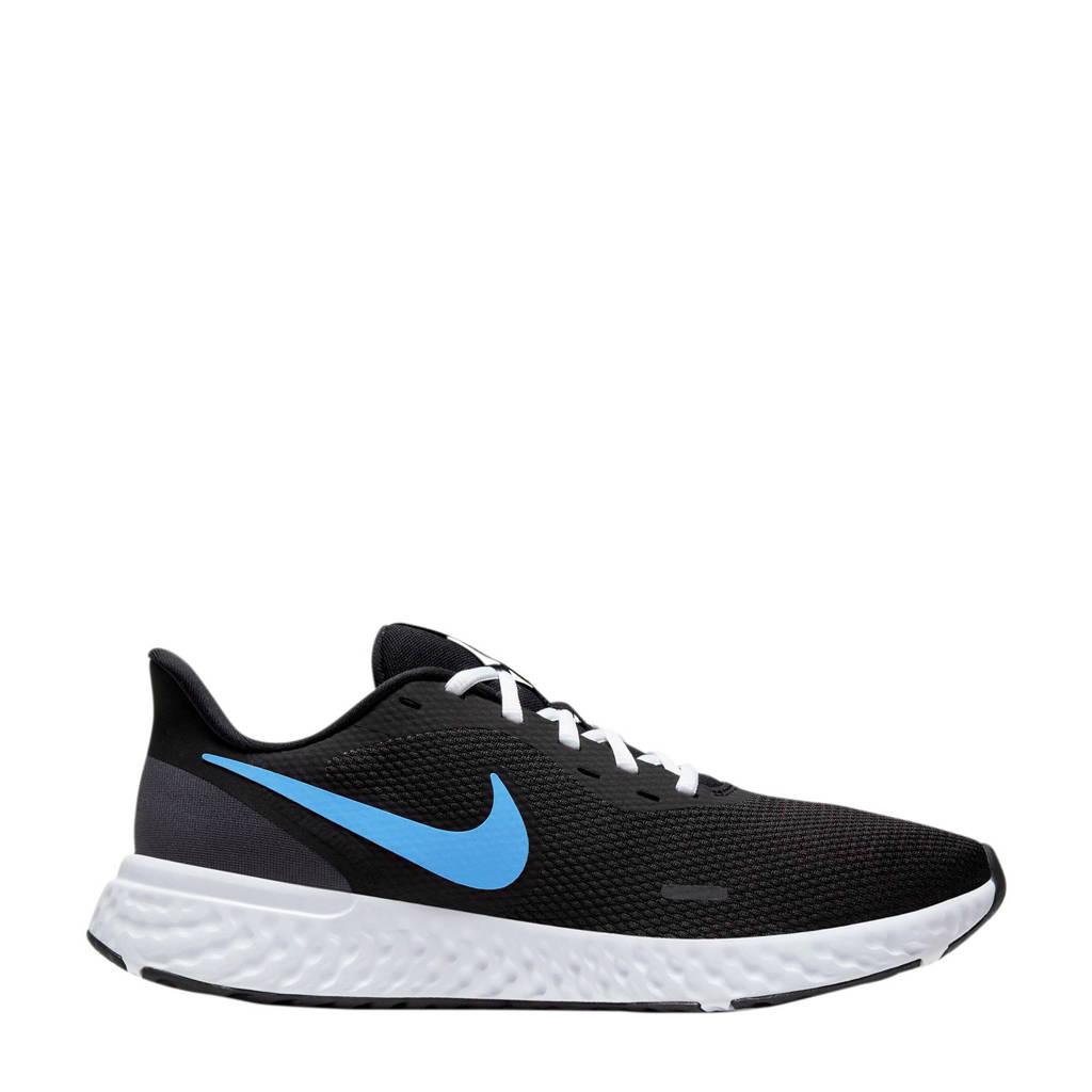 Nike Revolution 5 hardloopschoenen zwart/lichtblauw, Zwart/lichtblauw