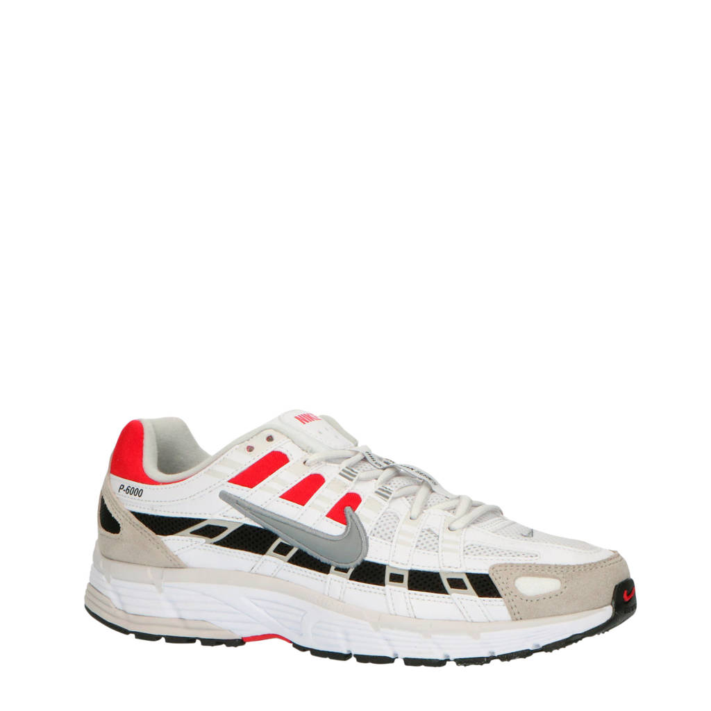 Nike P-6000  sneakers wit/grijs/rood, Wit/grijs/rood