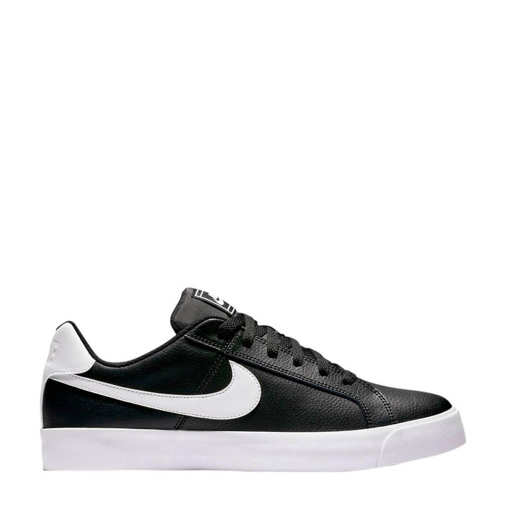 Nike Court Royale AC  leren sneakers zwart/wit, Zwart/wit