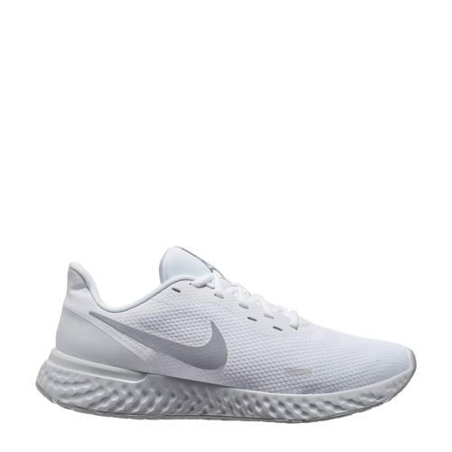 Nike Revolution 5 hardloopschoenen wit/grijs
