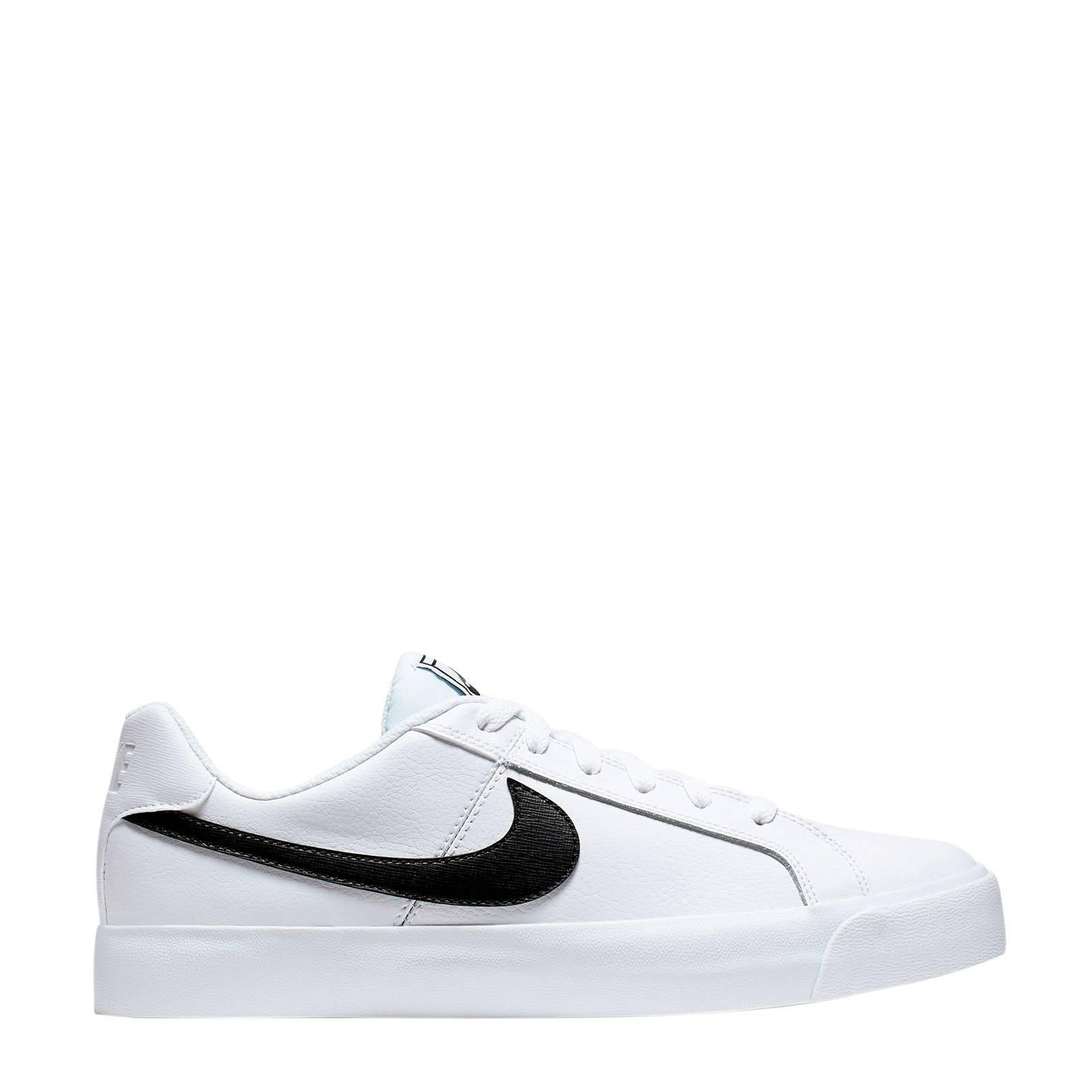 Nike Court Royale AC leren sneakers witzwart | wehkamp