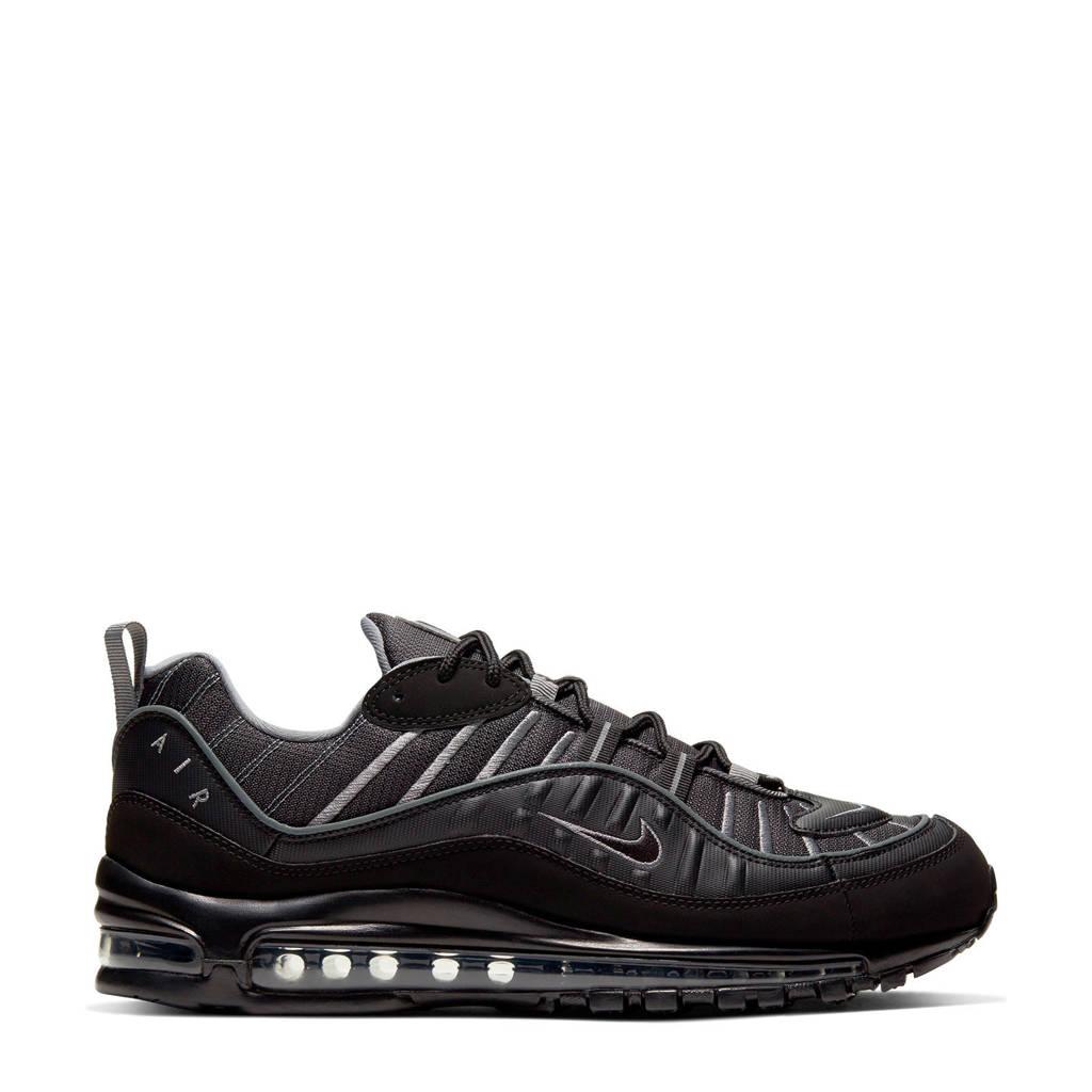 Nike Air Max 98 Premium sneakers zwart/donkergrijs, Zwart/grijs