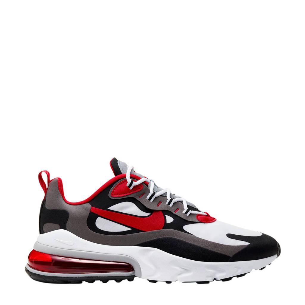 Nike Air Max 270 React sneakers zwart/rood/wit, Zwart/rood/wit