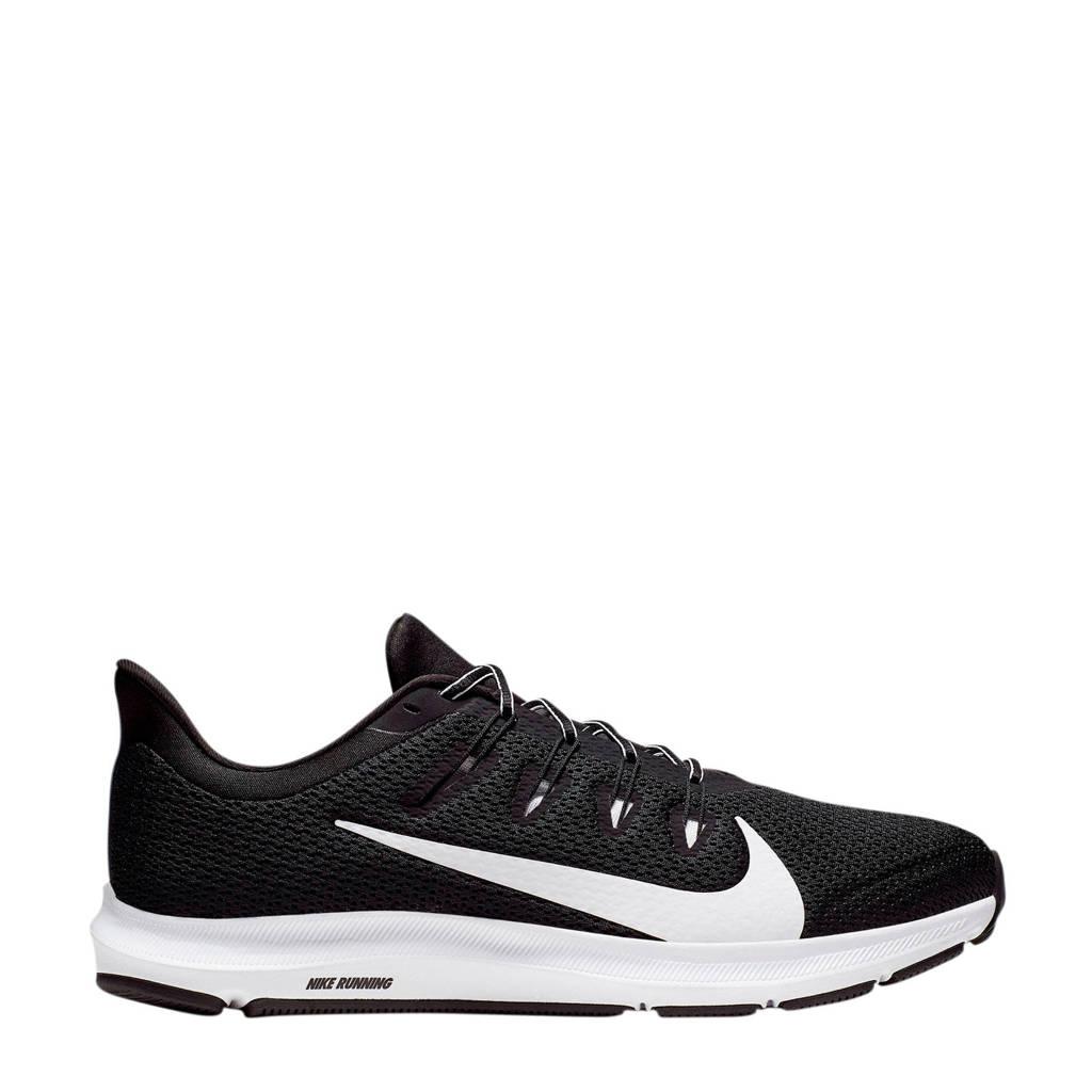Nike Quest 2  hardloopschoenen zwart/wit, Zwart/wit