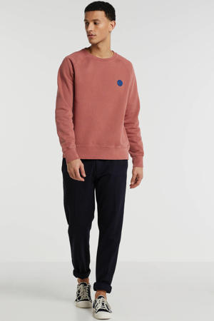 sweater met logo dusty red