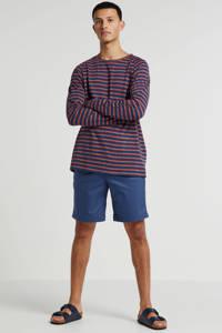 Nudie Jeans gestreept T-shirt van biologisch katoen donkerblauw, Donkerblauw