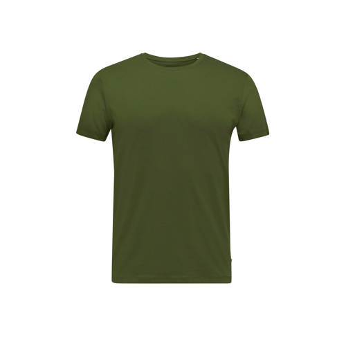 ESPRIT Men Casual T-shirt khaki green