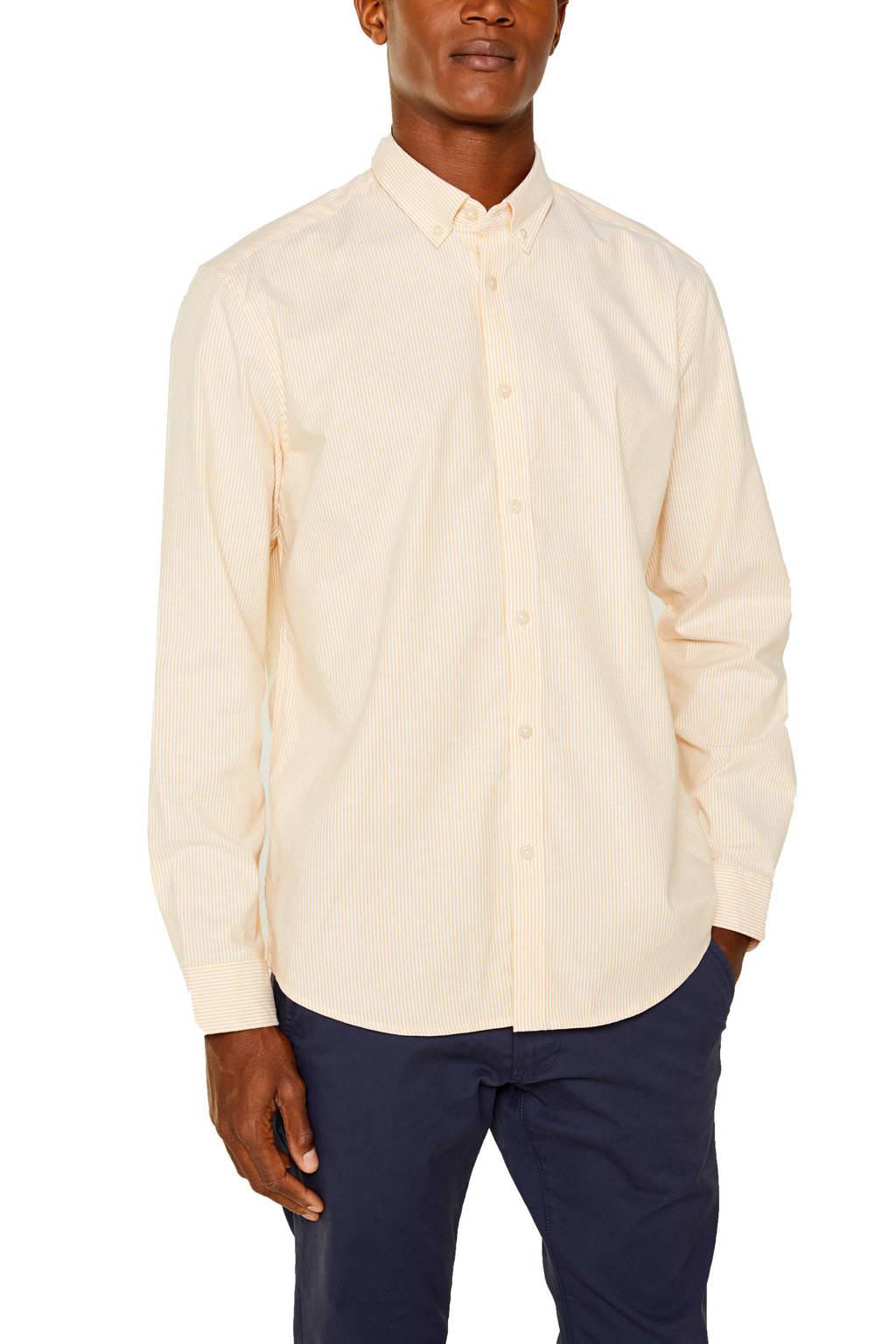 ESPRIT Men Casual slim fit overhemd 03 honey yellow, 03 Honey Yellow