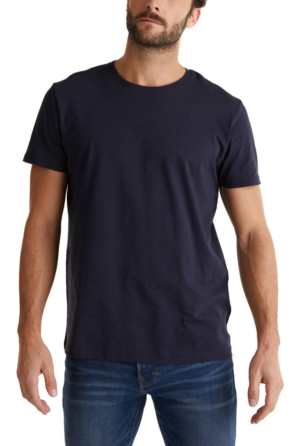 ESPRIT Men Casual T-shirt donkerblauw, Donkerblauw