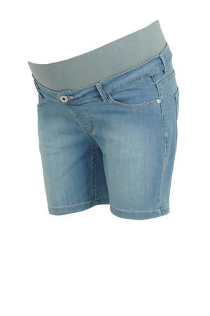 high waist jeans short light denim