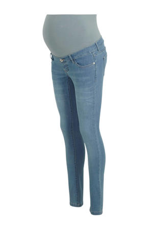 high waist slim fit zwangerschapsjeans lichtblauw