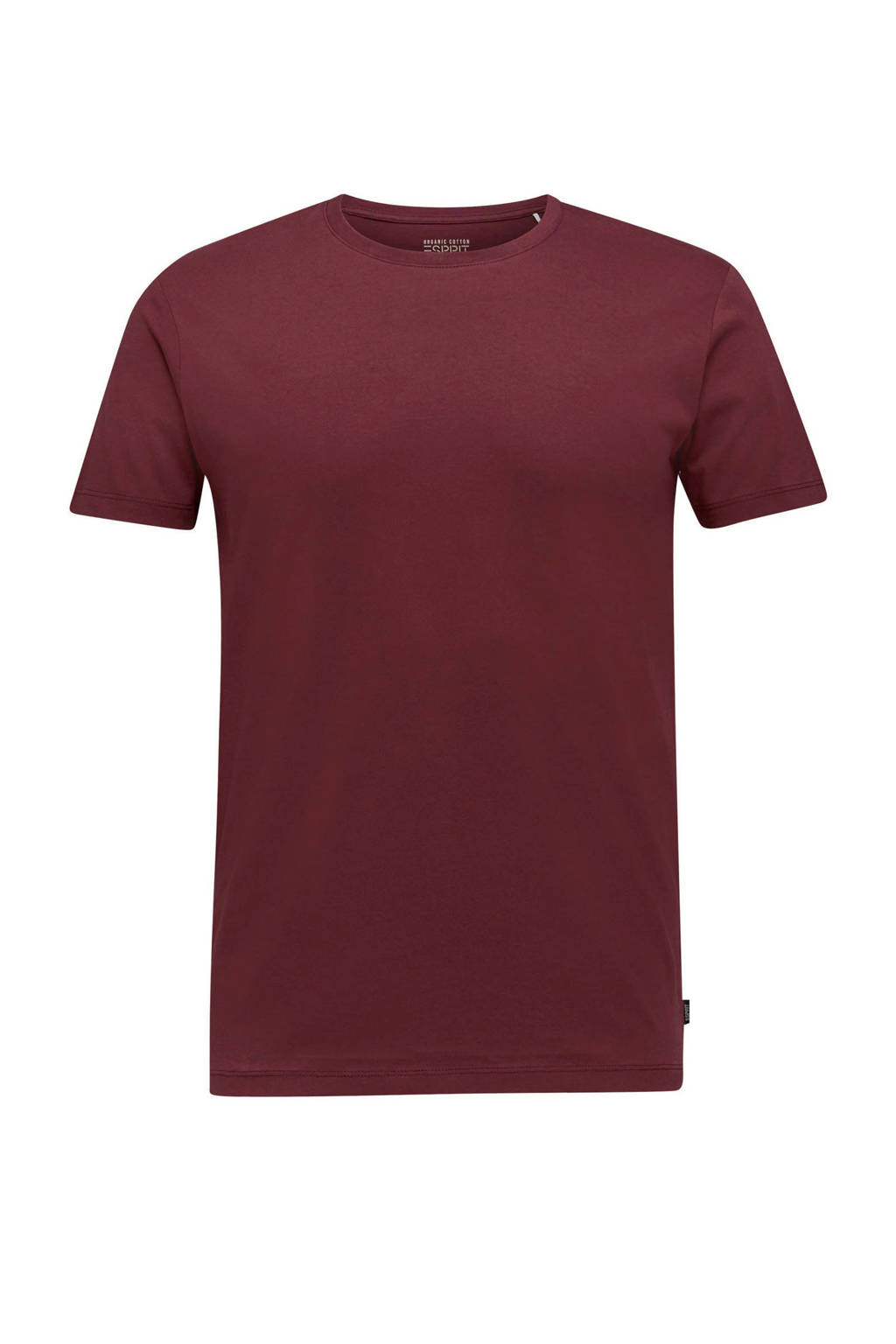 ESPRIT Men Casual T-shirt bordeaux rood, Bordeaux rood
