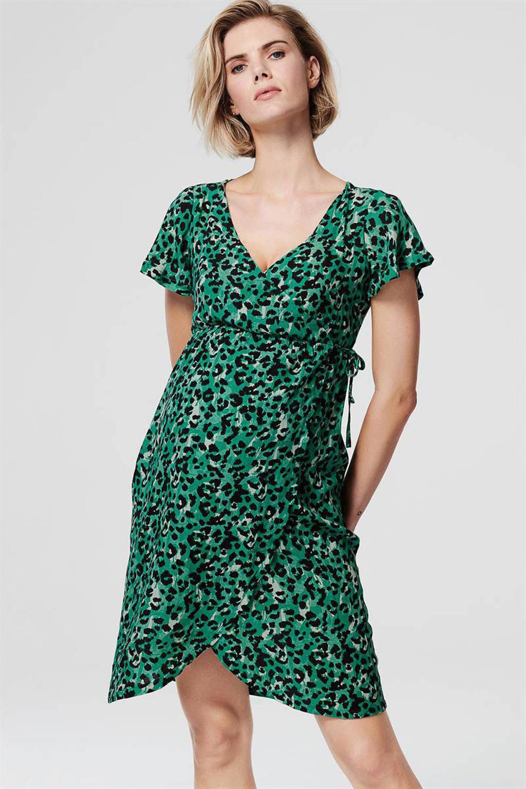 Supermom zwangerschapsjurk met all over print groen, Groen
