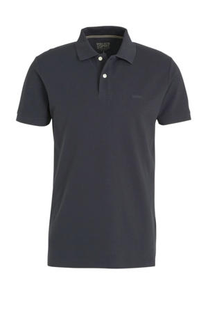 slim fit polo zwart