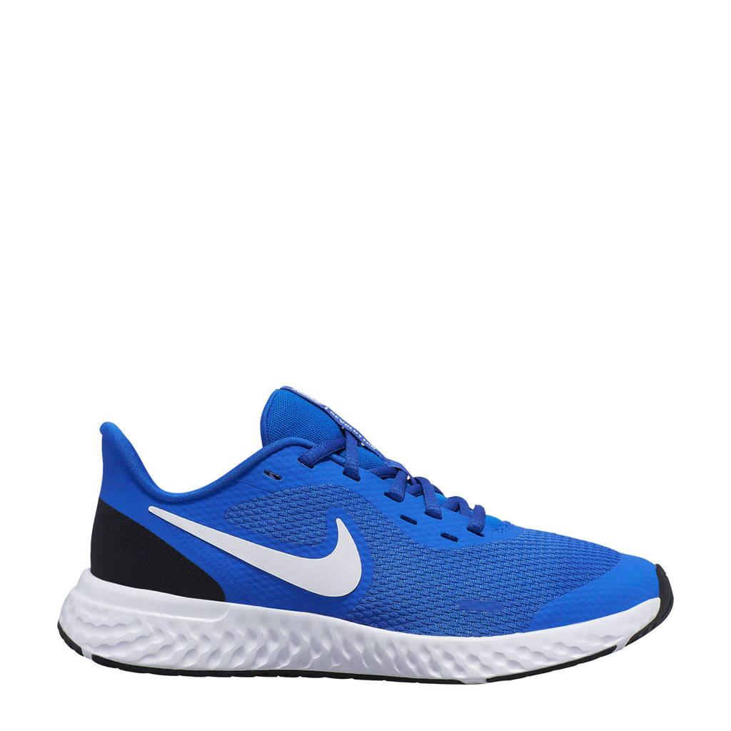 Nike Revolution 5 (GS) sneakers blauw/wit/zwart, Kobaltblauw/wit/zwart