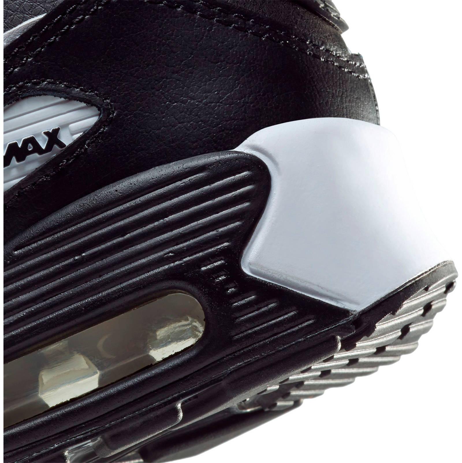 Nike Air Max 90 LTR (GS) leren sneakers zwartwit   wehkamp
