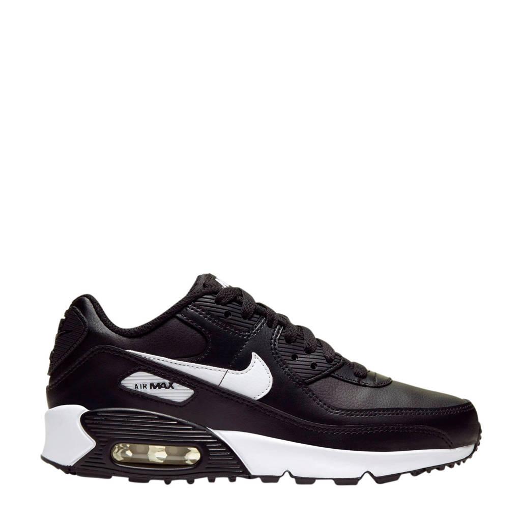 Nike Air Max 90 LTR (GS) leren sneakers zwart/wit, Zwart/wit