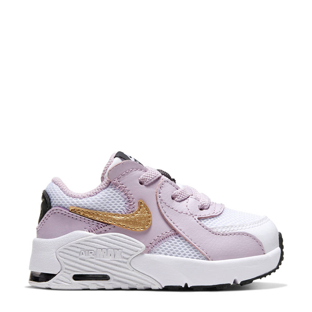 Nike Air Max Excee (TD) sneakers wit/goud/lila, Wit/goud/lila