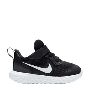 Revolution 5 leren sneakers zwart/wit