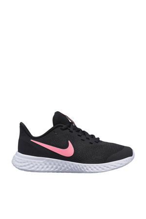 Revolution 5 (GS) sneakers zwart/roze