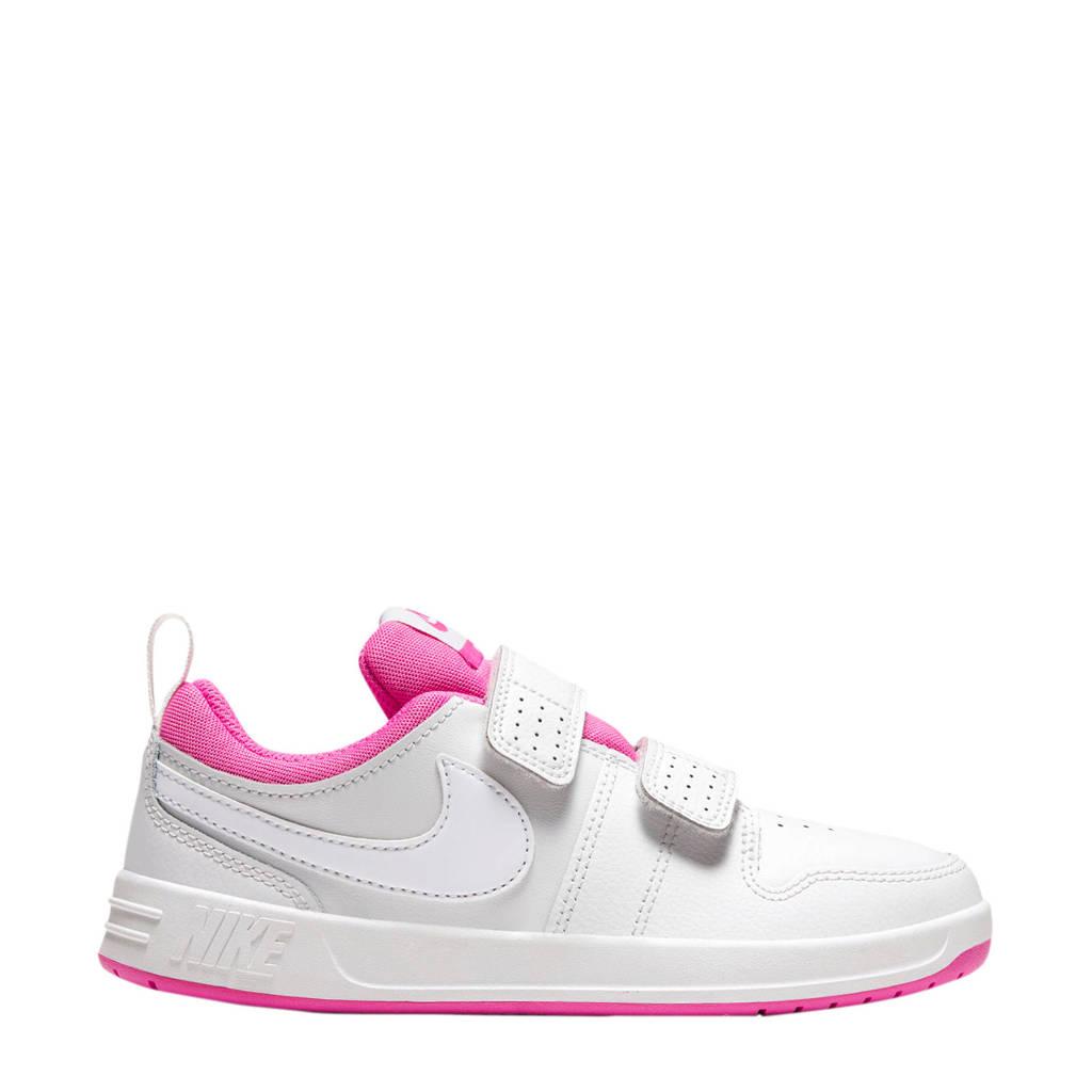 Nike Pico 5  sneakers wit/roze, Wit/wit/roze