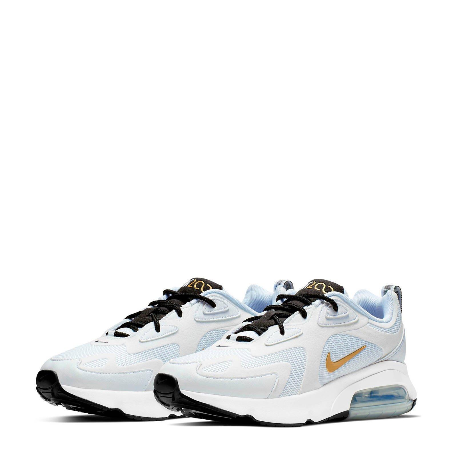 Nike Air Max 200 sneakers wit/goud/zwart | wehkamp