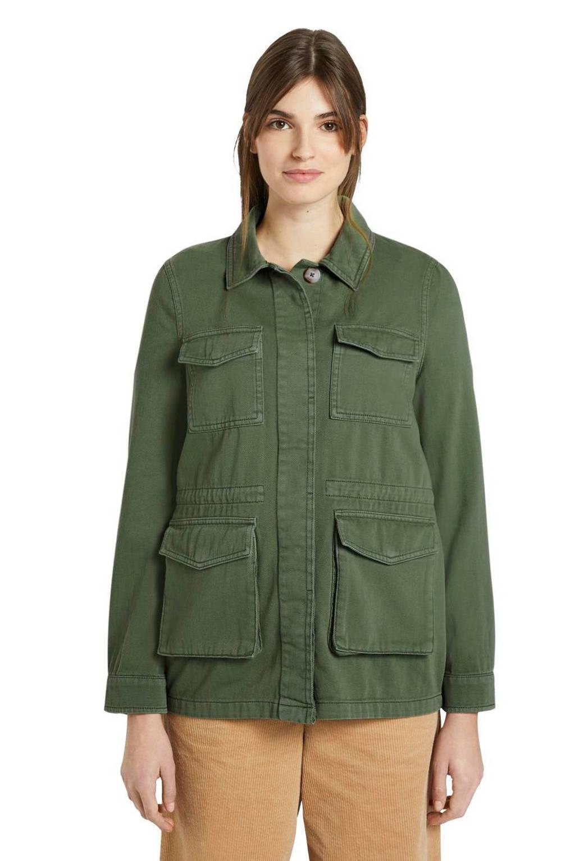 Tom Tailor Denim parka utility field jacket lichtgroen, Groen