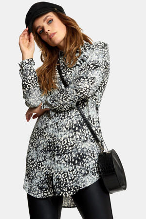 Lange blouse met all over print
