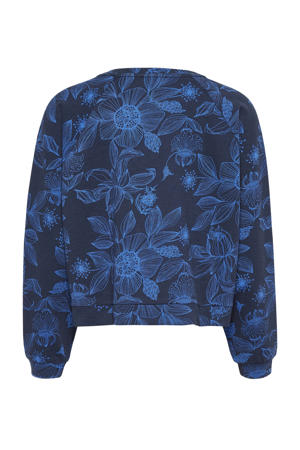 vest met all over print blauw