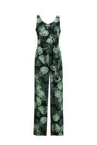 WE Fashion jumpsuit met all over print groen, Groen