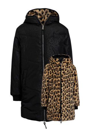 reversible jas zwart/bruin